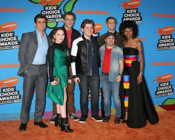'Henry Danger' cast at the 2018 Kid's Choice Awards