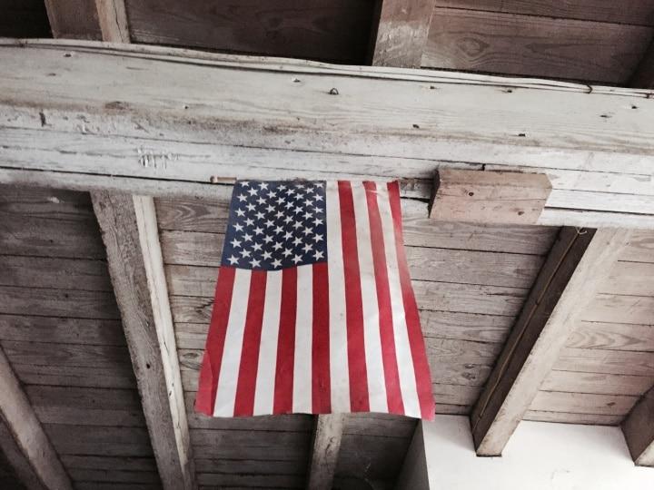 u.s. flag on labor day
